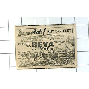 1937 Beva Waterproof Leather Boots Made By William Paul Oak Tannery Leeds