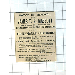 1937 James Ts Mabbott Is Moving To Greenmarket Chambers Penzance