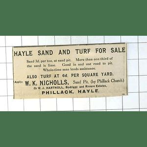 1937 Wk Nicholls, Sandpit, Phillack Church, Sand And Turf