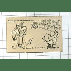 1937 Hm Bateman Cartoon Ac Spark Plugs