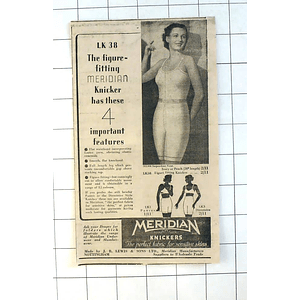 1937 Meridian Knickers Made By Jb Lewis Nottingham