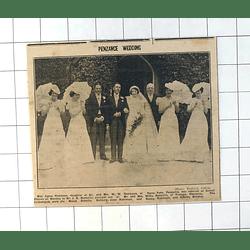 1937 Penzance Wedding, Agnes Robinson Jk Bennetts