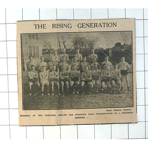 1937 Members Of The Penzance Health And Strength Club December Morning