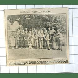 1937 Group Photograph After Wedding Roland Beringer Iris Mitchell Penzance