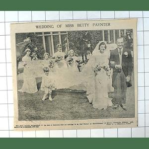 1937 Miss Betty Paynter, Boskenna, Marries Olaf Poulsen De Baerdemaecker