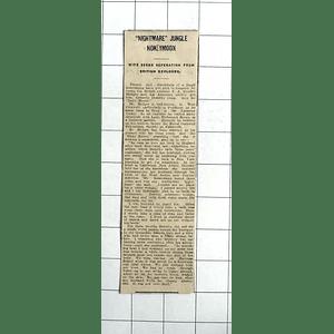 1938 Nightmare Jungle Honeymoon Of Dorothy Copp, Seeks Separation  Hedges