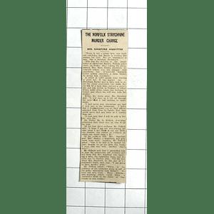 1938 Rose Sandford Acquitted Murdering Husband By Strychnine Downham Market
