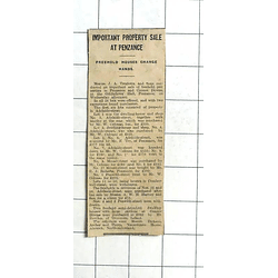 1938 Adelaide Street Penzance, Property Sell £150, 4 Mount Street, £180