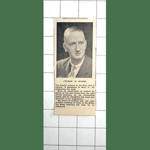 1938 Popular Organist At Cornwall Ritz, Arthur W Woods