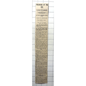1938 Wj Griffiths Prisoner On Lonely Longships Rock Lighthouse, Food Running Low