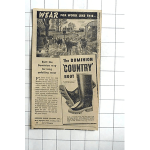 1938 The Dominion Country Boot Made By Dominion Rubber Company