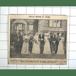 1938 Kenegie Hotel Lawn, Wedding Of Stella Blewett To Peter Laws, Maidstone
