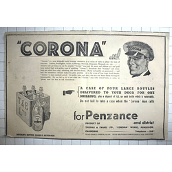 1938 Corona For Penzance Thomas Evans, Pengegon, Camborne