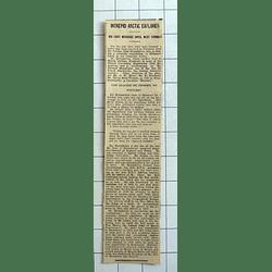 1934 Letter From Gordon Humphreys Scientific Exploration Ellesmere Land