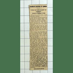 1934 Mr Lionel White Rescues Bathers In Trouble Sennen, Barnard, Gamblin