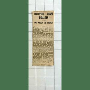 1934 Liverpool Tram Disaster, Paddington Hill Catherine Mcnally Heroine