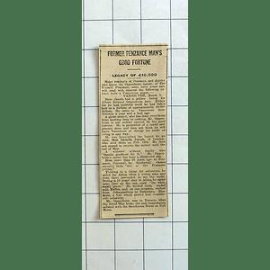 1934 Albert Edward Oppenheim Legacy Of £10,000 By Aunt Isabella Joseph
