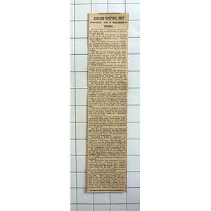 1934 Mr Ew Meyerstein, Morants Court Dunton Green Kent £30,000 Hospital Gift