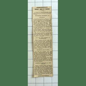 1934 Nevada House, Chapel Street Marazion Sells For £420, Nevada Cottage £170