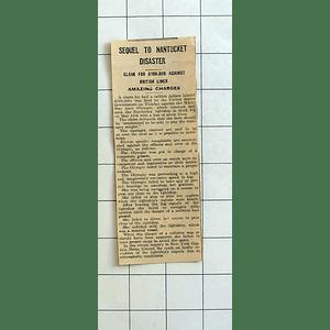 1934 Claim For half Million Dollars Against White Star Liner Olympic
