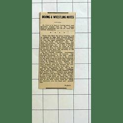 1934 Francis Gregory Still The Cornish Champion Wrestler
