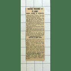 1934 Cambridge Visitors Marooned St Agnes, Harlow, Freeman, Tregea, Coastguard