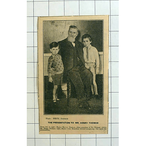 1934 Mr Henry Thomas With Grandson Harvey, John Hamilton Scobell Armstrong