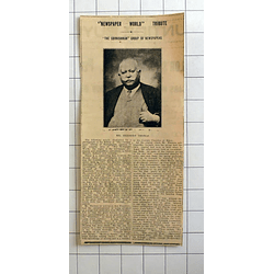 1934 Newspaper World Tribute, Mr Herbert Thomas Cornishman Newspapers