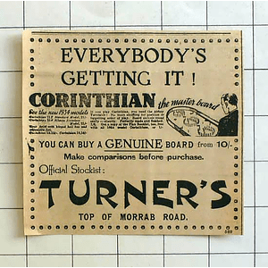 1934 If You Play Corinthian You Need Abbey Turntable, Turners Penzance