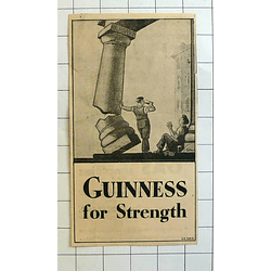 1934 Gilroy Cartoon Guinness For Strength