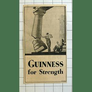1934 Gilroy Cartoon Guinness For Strength