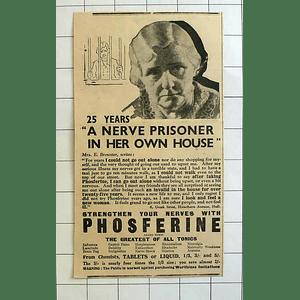 1934 Mrs E Brewster 6 Greek Street Hawthorn Avenue Hull, 25 Years Prisoner