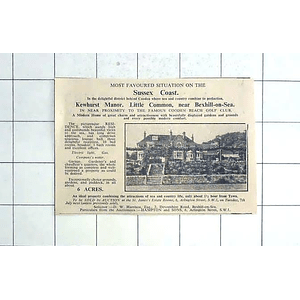 1936 Kewhurst Manor Little Common Near Bexhill On Sea With 6 Acres For Sale
