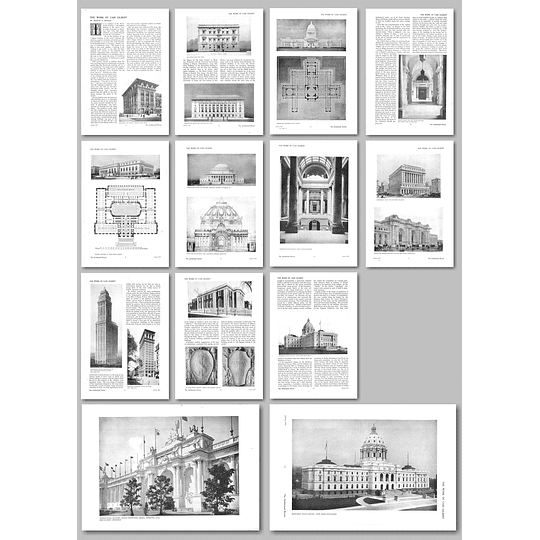 1912 The Work of Cass Gilbert, by Francis S Swales