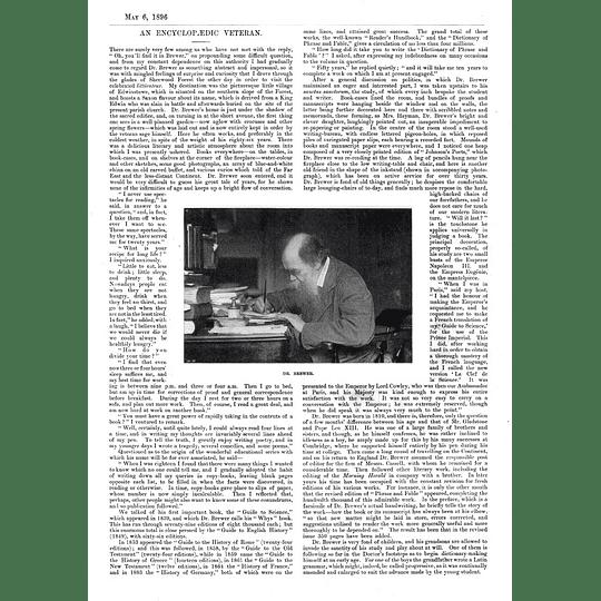 A Chat With Ebenezer Cobham Brewer, Encyclopedia Man 1896