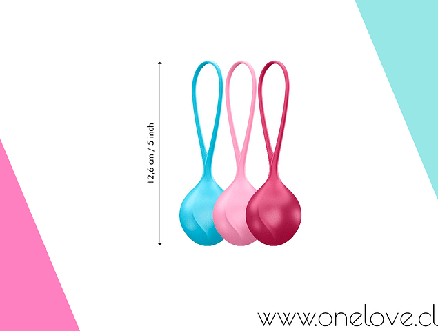 SATISFYER KEGEL V BALLS - KIT DE 3 BOLITAS KEGEL