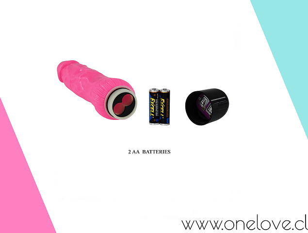 VIBRADOR MULTIVELOCIDAD PINK 24 CMS - COLOR ROSA