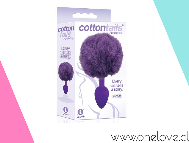 COTTONTAILS PLUG COLA DE CONEJO MORADO