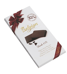 BELGIAN DARK CHOCOLATE 85%    100 Gr. Fino y exquisito chocolate belga.