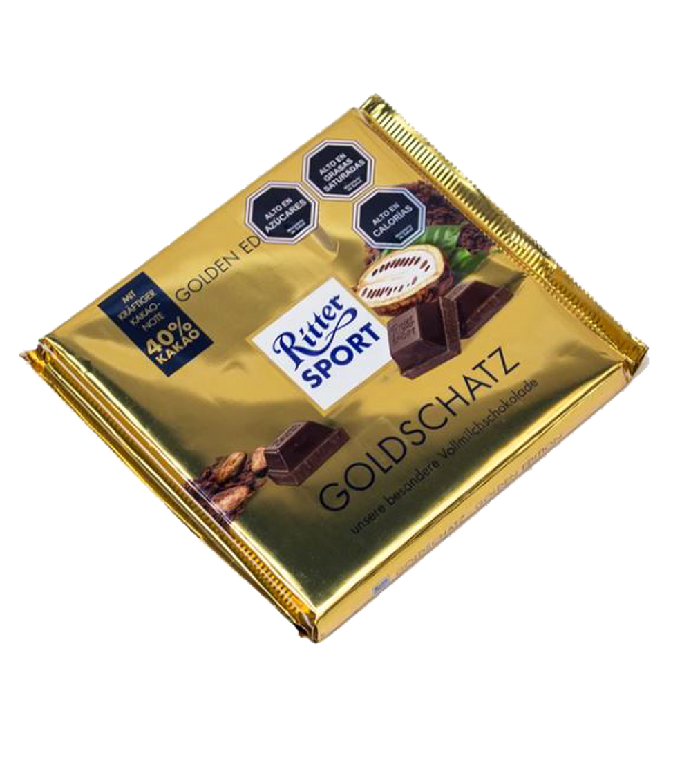 CHOCOLATE RITTER SPORT 40% CACAO 250 GR.