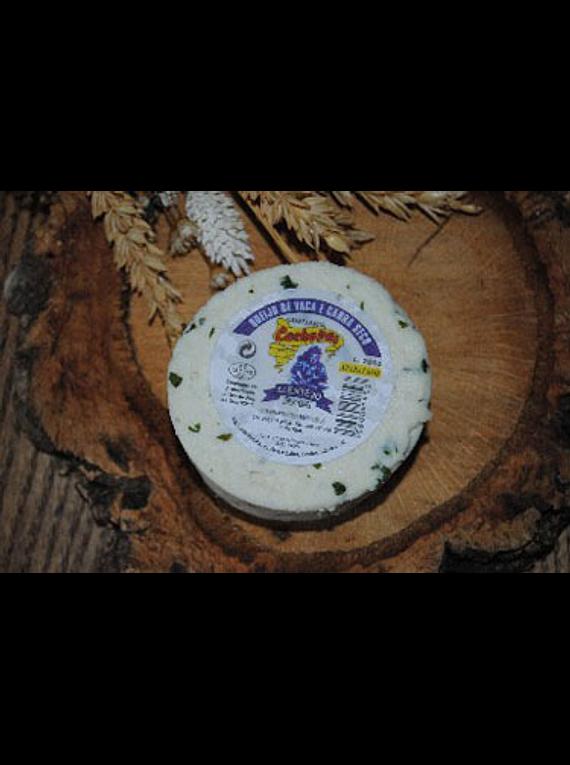 Pack 2 queijos Alentejanos pequenos Vaca e Cabra secos