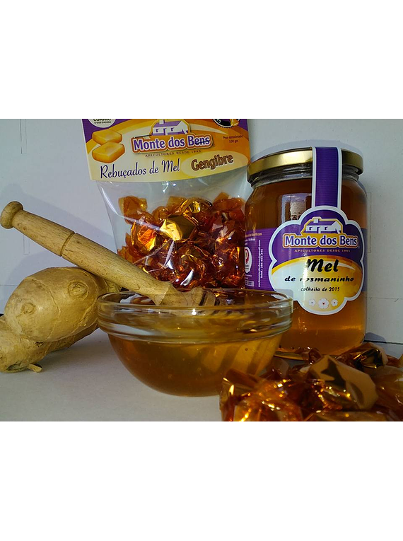 Rebuçados de mel e gengibre Monte dos Bens 100g