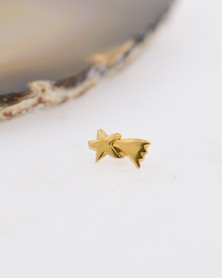 Estrella fugaz lisa en oro amarillo – 14g