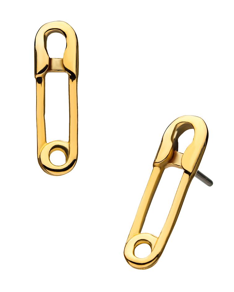 Broche de oro amarillo -Threadless o pin