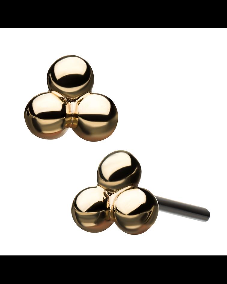 Pyramid balls de oro- Threadless o pin