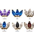 Triple marquesa con gema en oro - Threadless o pin