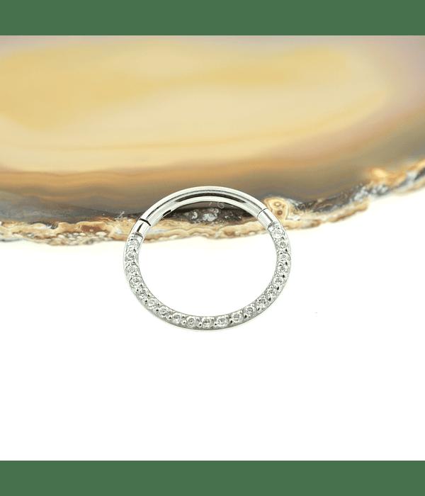 Segment ring con línea de zirconias frontal