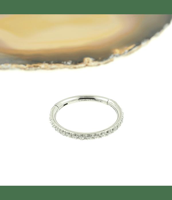 Segment ring con línea de zirconias lateral
