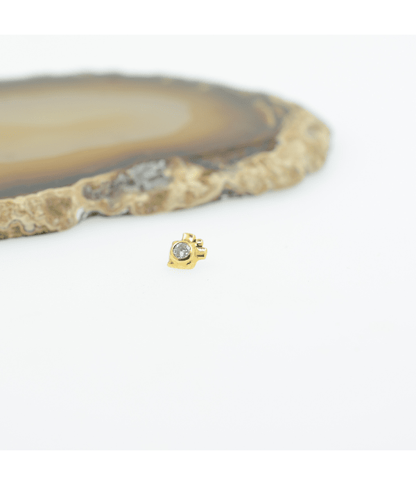 Gema brillante ornamental en oro amarillo - 14g