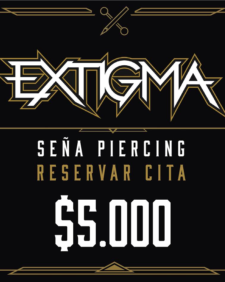 Seña para piercing - Reserva de cita $5,000